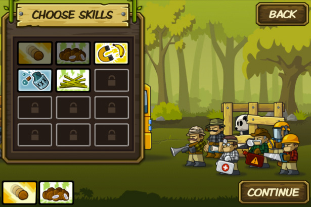Choose skills - Side-scrolling defense game for iPhone, game for iPad, game apps for Android